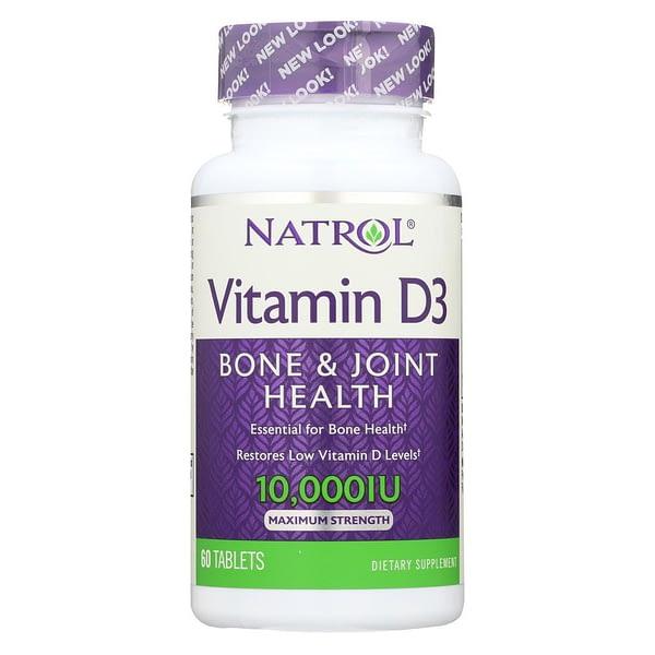 Natrol Vitamin D3 10000IU (60 капсул/60serv)