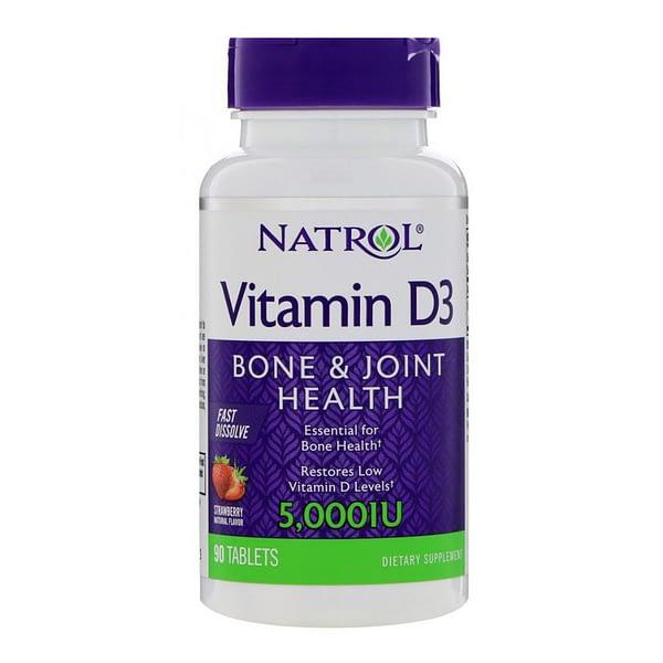 Natrol Vitamin D3 5000IU (90 капсул/90serv)