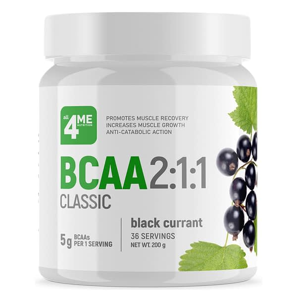 All 4 Me Nutrition BCAA 2:1:1 (200g/36serv)