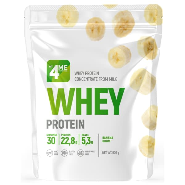 All 4 Me Nutrition Whey Protein (900g/30serv)
