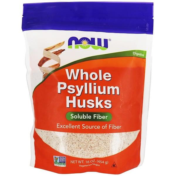 Now Whole Psyllium Husks (454g/45serv)