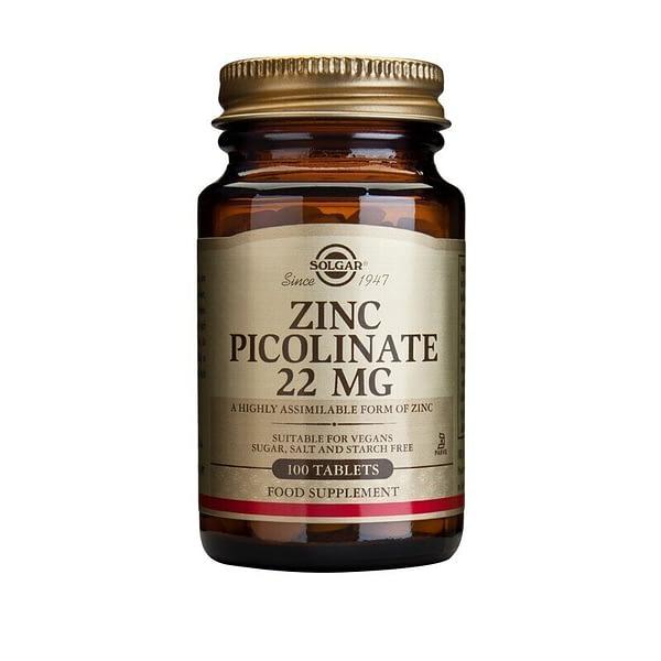 Solgar Zinc Picolinate 22mg (100 таблеток/100serv)