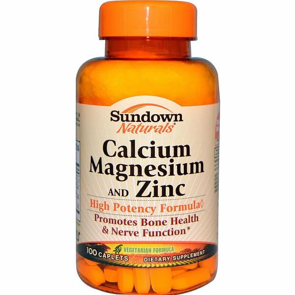 Sundown Naturals Calcium Magnesium & Zinc (100 капсул/33serv)